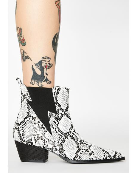 Camden Snakeskin Boots