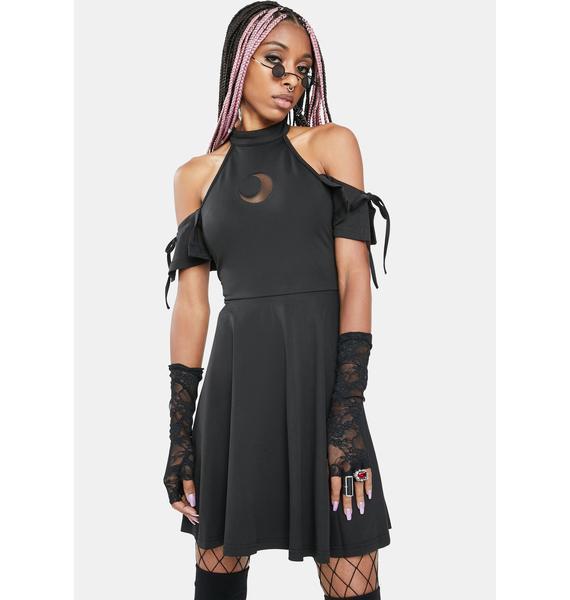 Punk Rave Faraway Light Shoulder Cut-Out Mini Dress