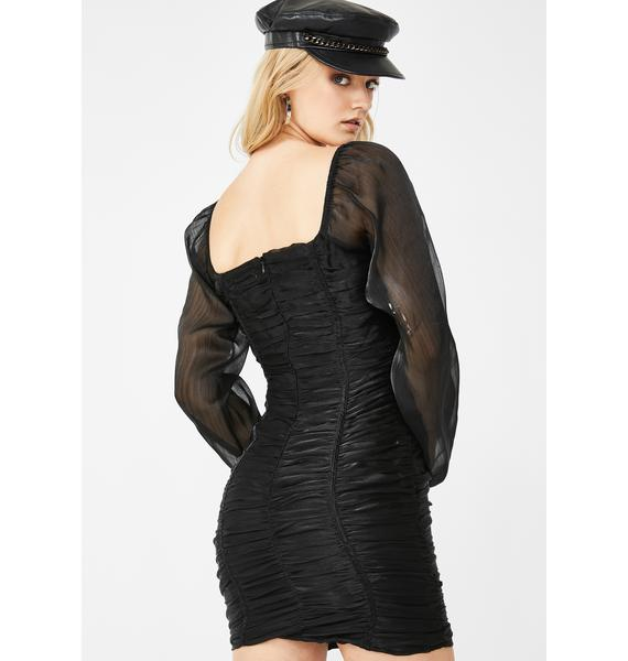 Honey Punch Date Desire Ruched Dress