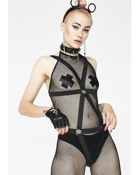 Now Or Neva Harness Bodystocking
