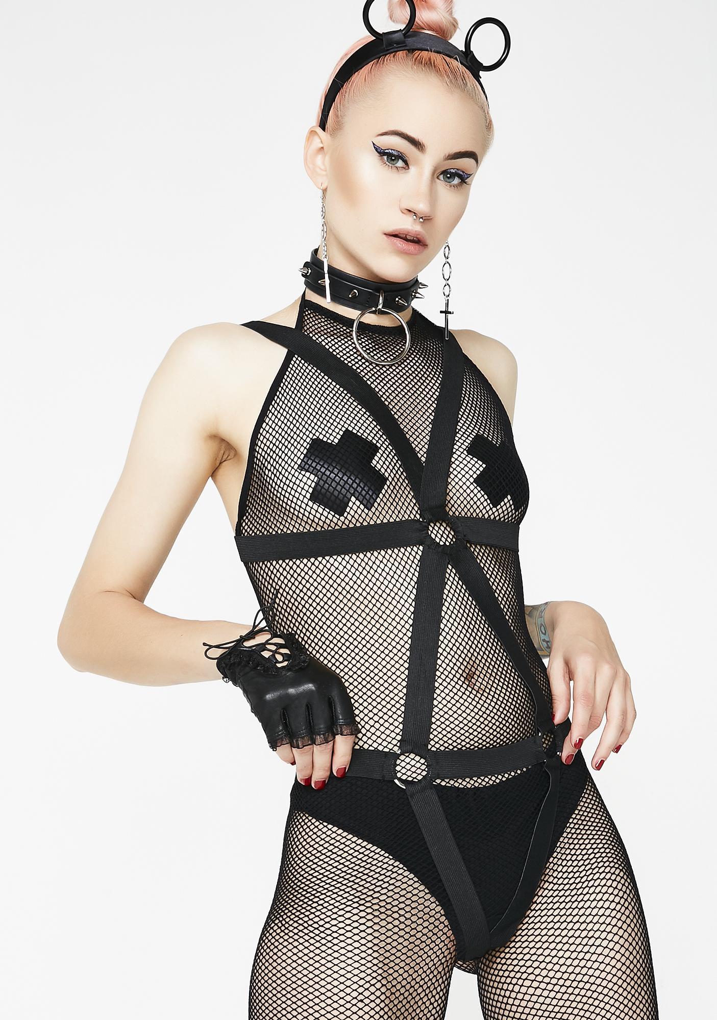 Now Or Neva Harness Bodystocking