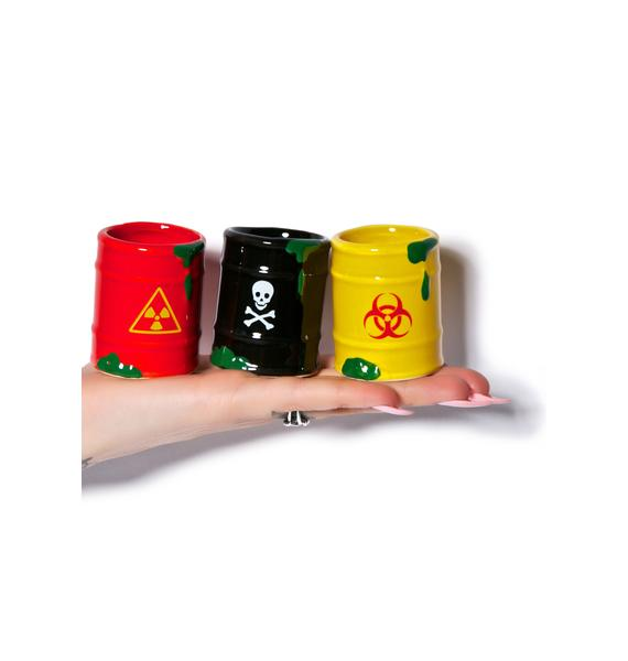 Toxic Waste Shot Glass Set