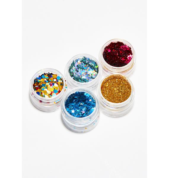 dELiA*s by Dolls Kill Goldie More Sparkly Than Dull Glitter Stack