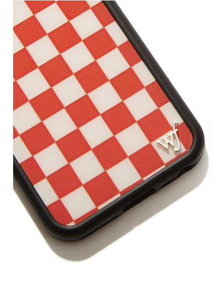 Red Checkers IPhone Case