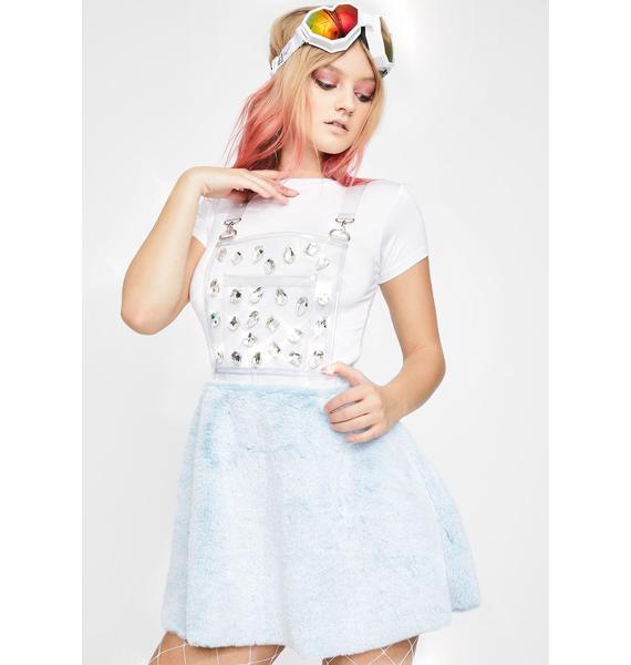 Club Exx Diamond Gurl Clear Overall Dress