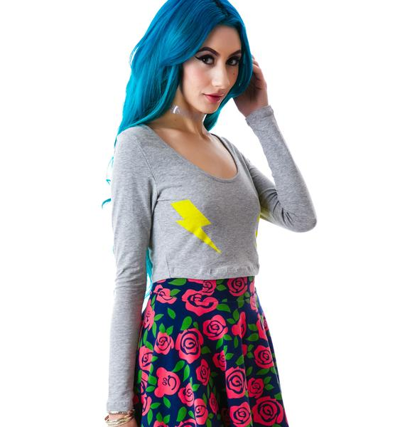 Two Bolts Long Sleeve Crop Tee