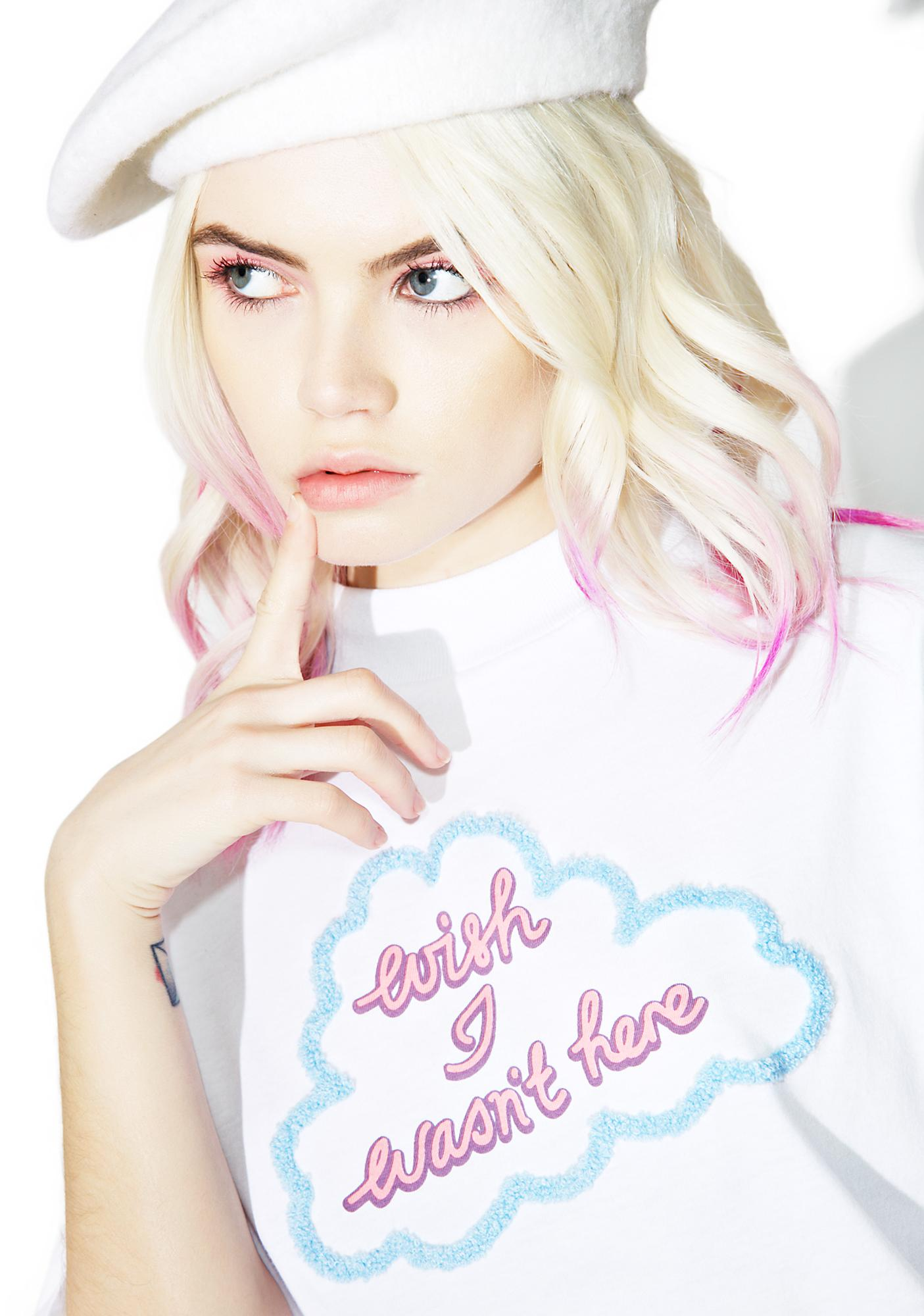 Lazy Oaf Wish I Wasn't Here Tee