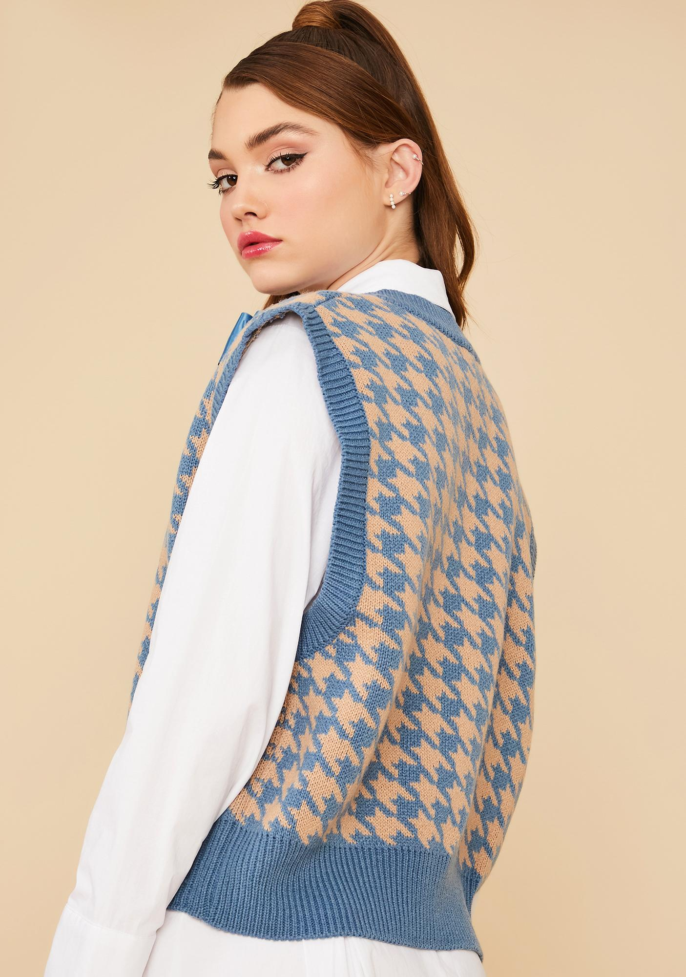 Pool Somebody Told Me Houndstooth Sweater Vest