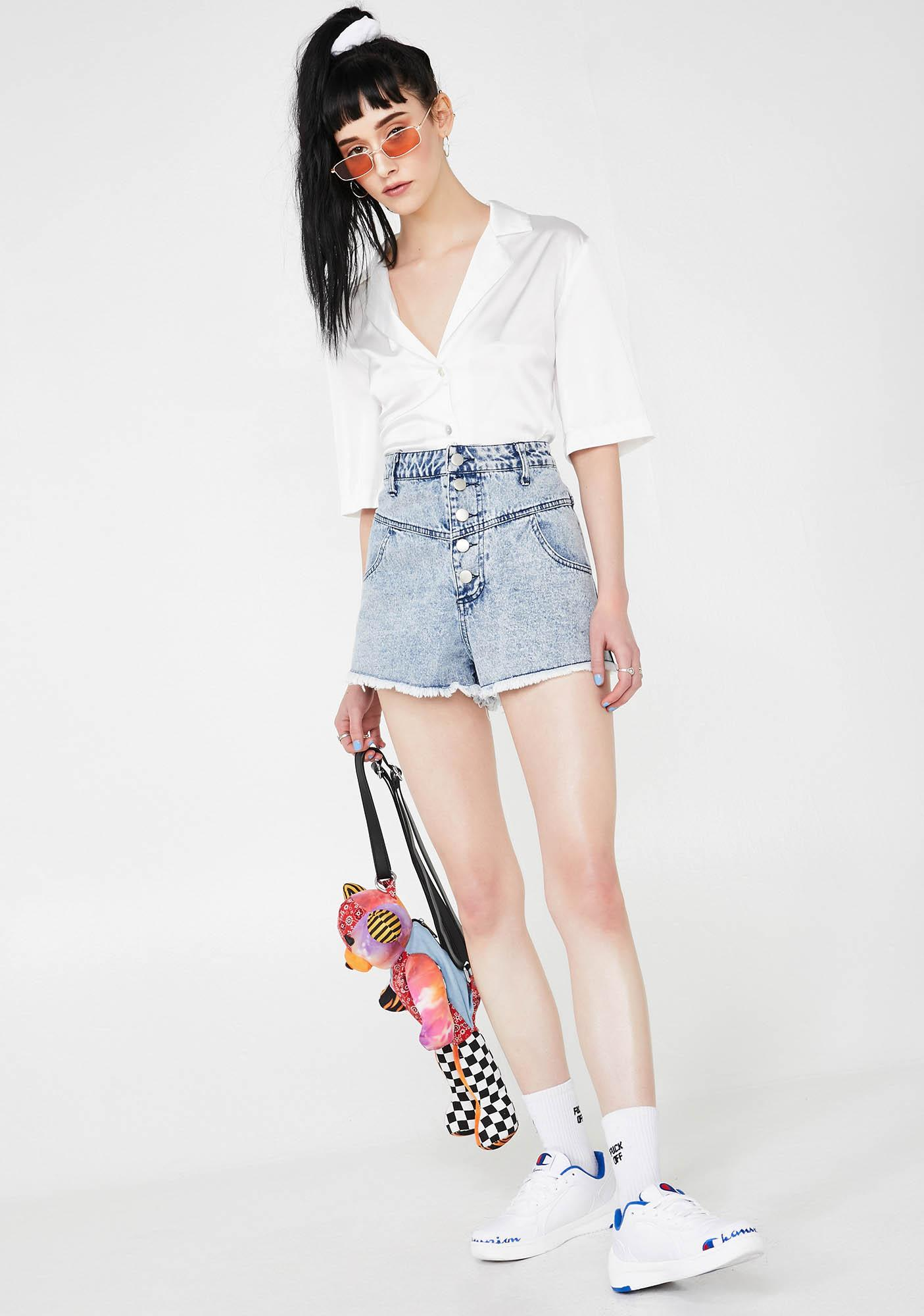 Sun Drenched Denim Shorts