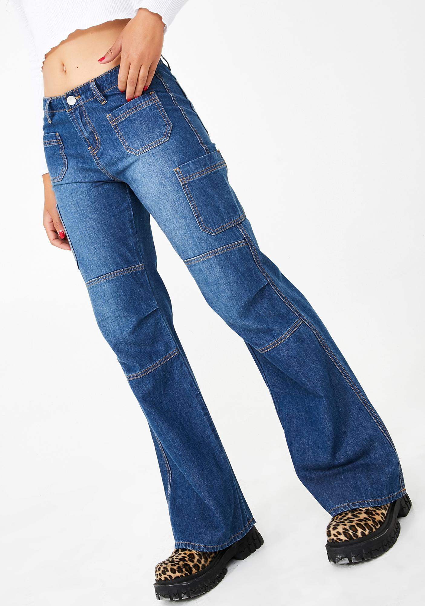 dELiA*s by Dolls Kill Skippin' Skool Bootcut Jeans