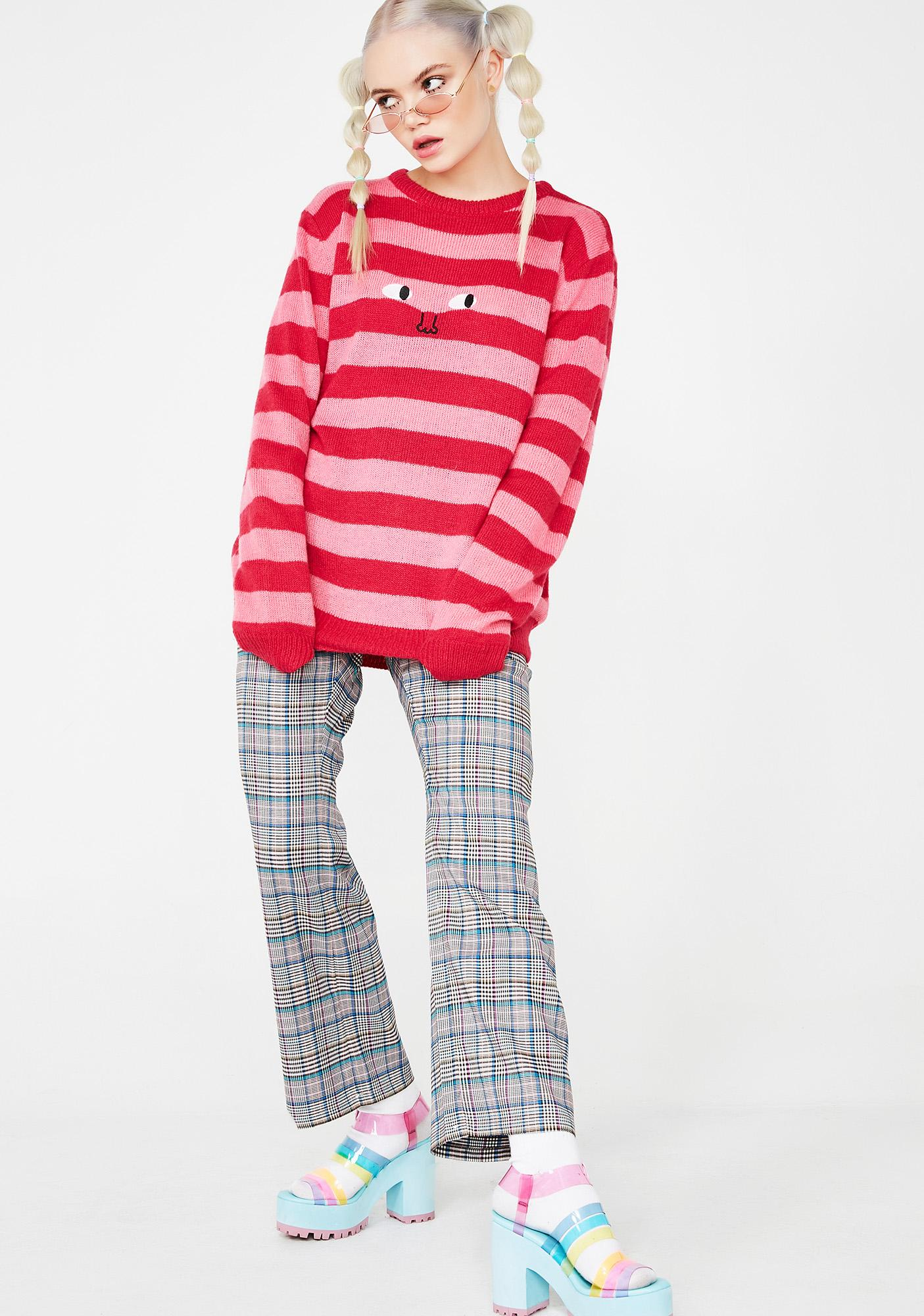 Lazy Oaf Face It Stripe Tee