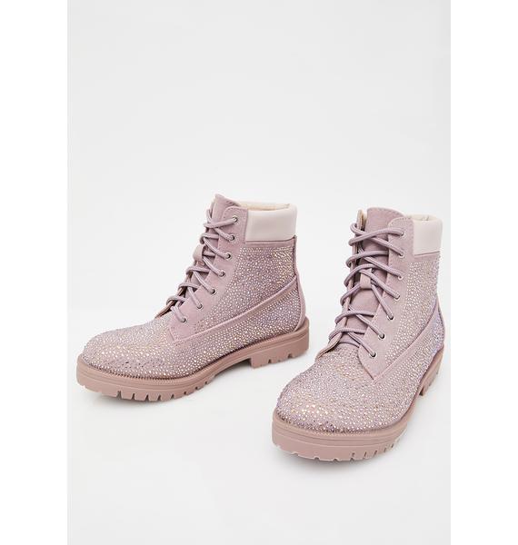 Mauve Diamond Crusher Boots