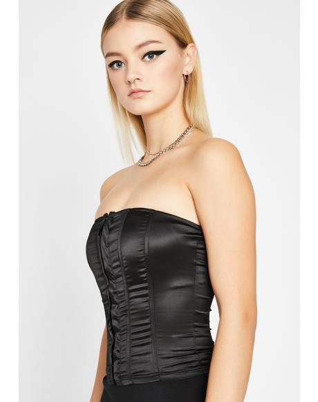 Dark Never Leave Ya Corset Top