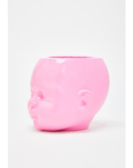 Baby Doll Head Pot