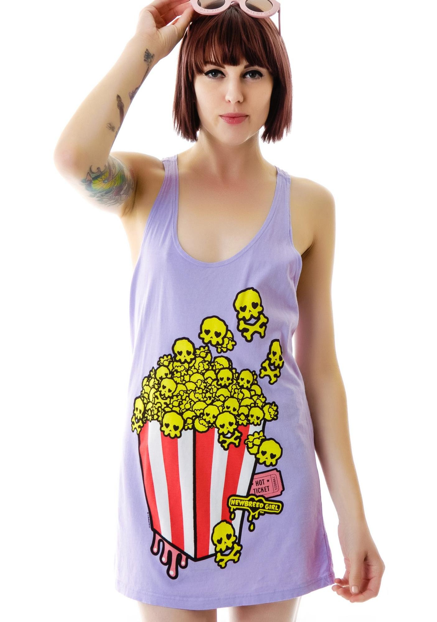 New Breed Girl Skully Popcorn Tank