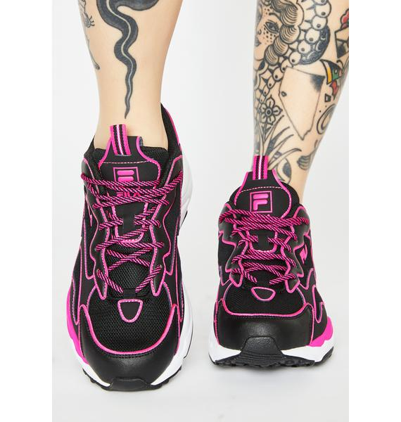 Fila Pink Neon Ray Tracer Sneakers