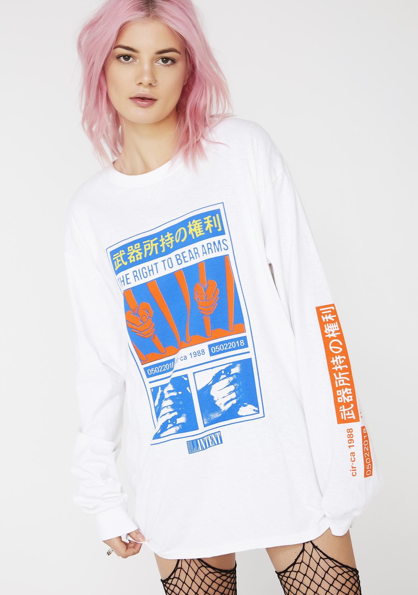 ILL INTENT Right To Bear Arms Long Sleeve Tee