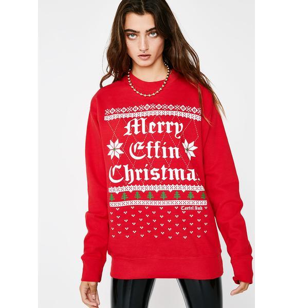 Cartel Ink Merry Effin' Christmas Sweater