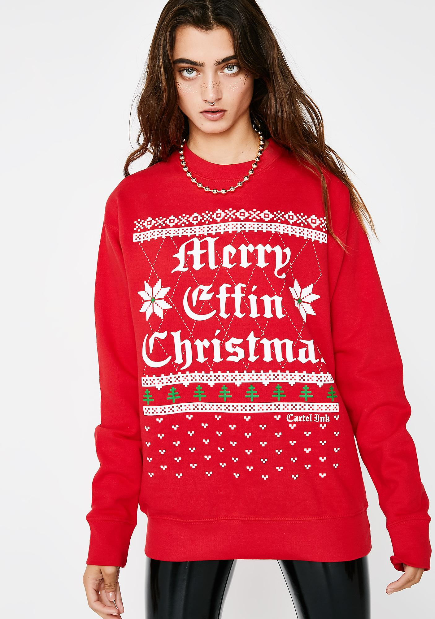 Merry Effin' Christmas Sweater