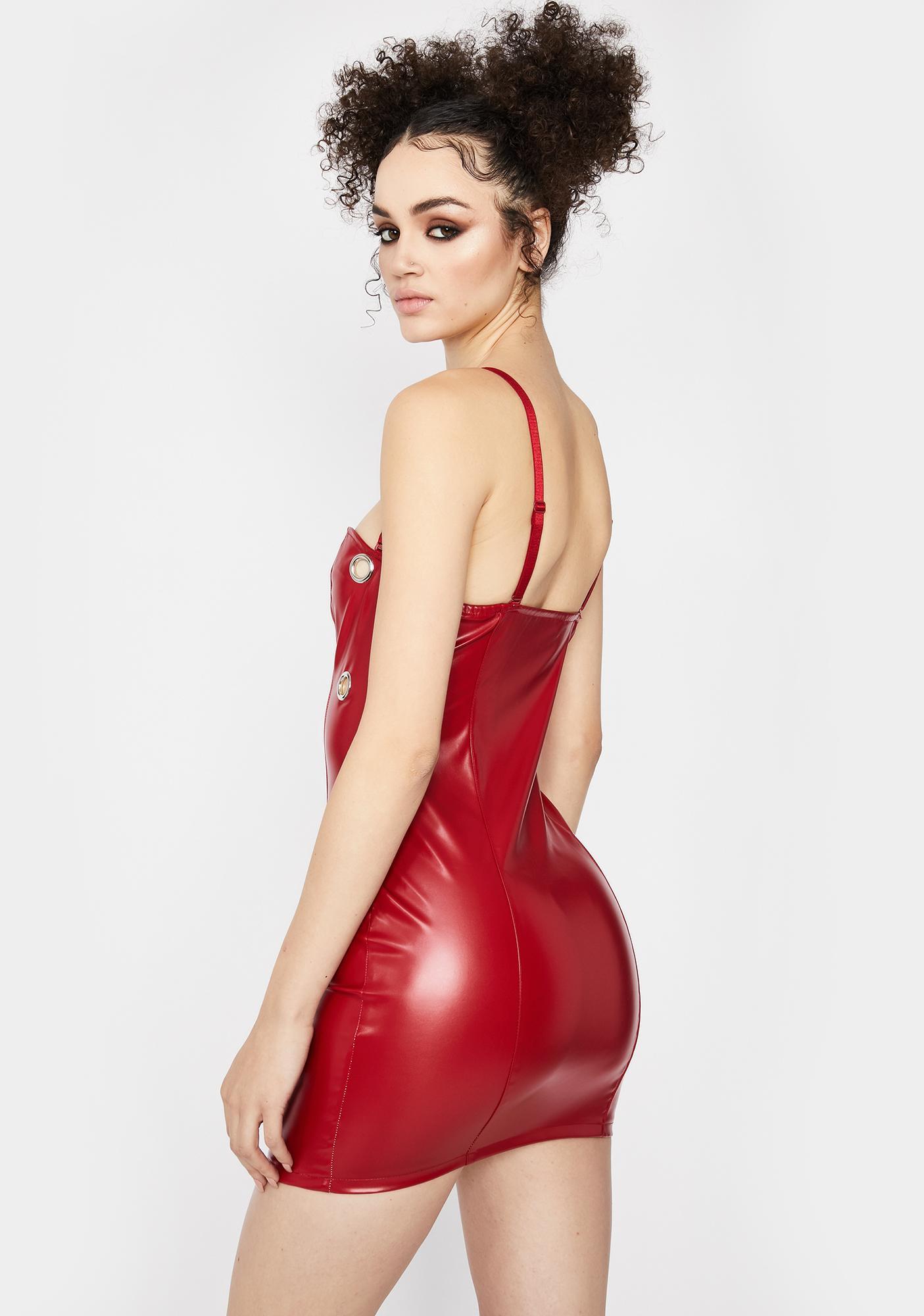 Rouge No Discipline Faux Leather Dress