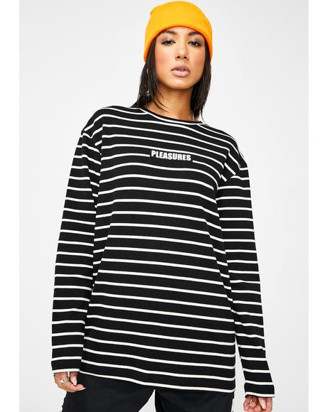 Vortex Long Sleeve Striped Shirt