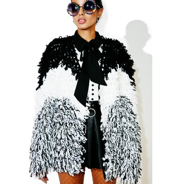 Glamorous Showdown Shag Coat