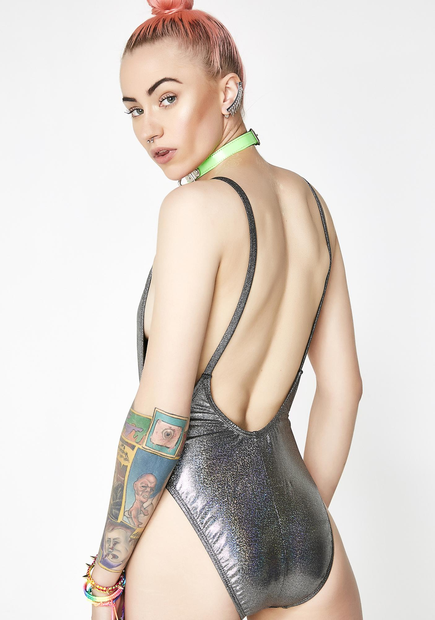 Prismatic Paradise Backless One Piece