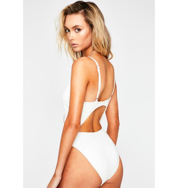 Dippin' Daisy's  Ivory Glam One Piece Swimsuit