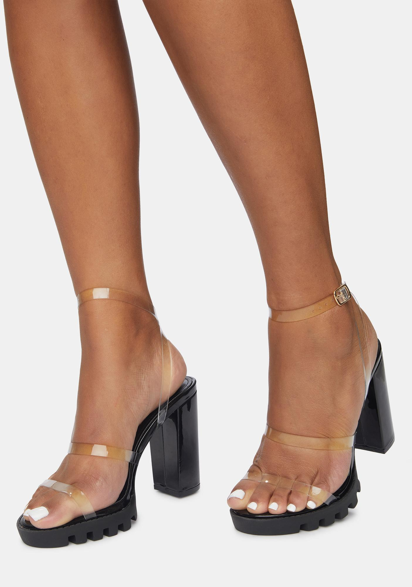 Clear Dream City Iridescent Heels
