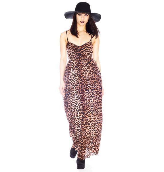One Teaspoon Surrender Leopard Maxi Dress