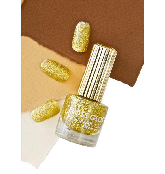 Floss Gloss Stun Gold Holographic Nail Polish