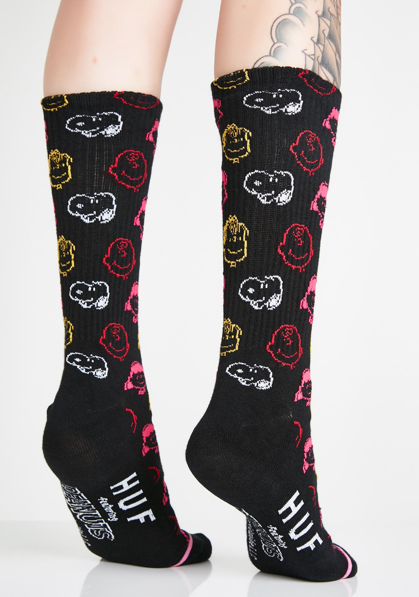 HUF Candy Peanuts Colors Crew Socks