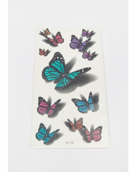 Fairy Shadows Butterfly Tattoos