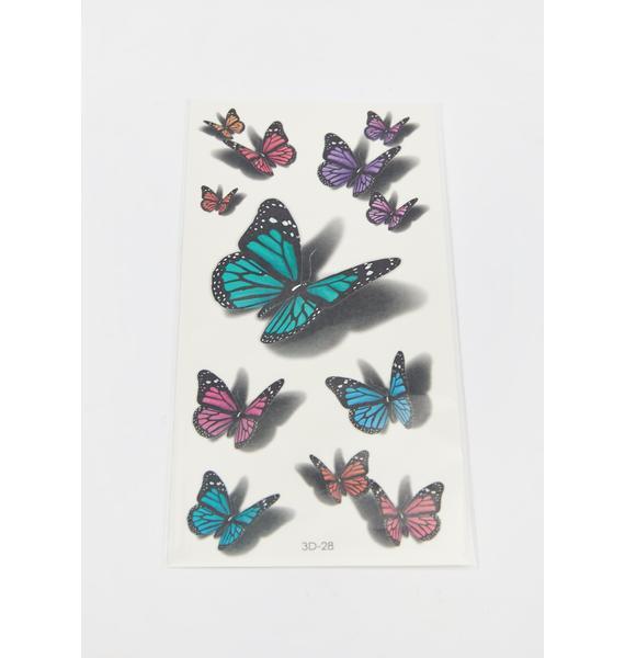 Fairy Shadows Butterfly Tattoos