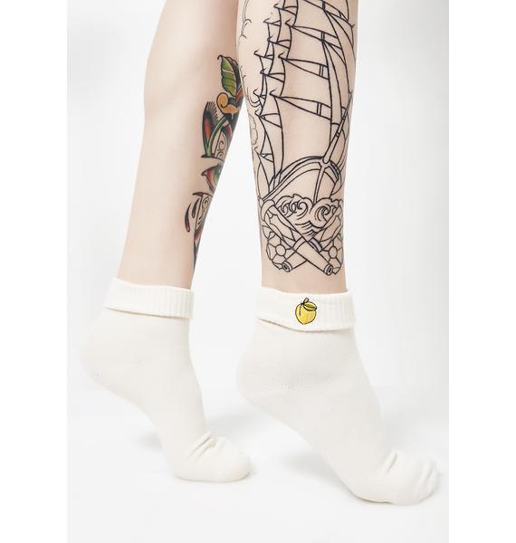 Yeah Bunny White Peach Socks