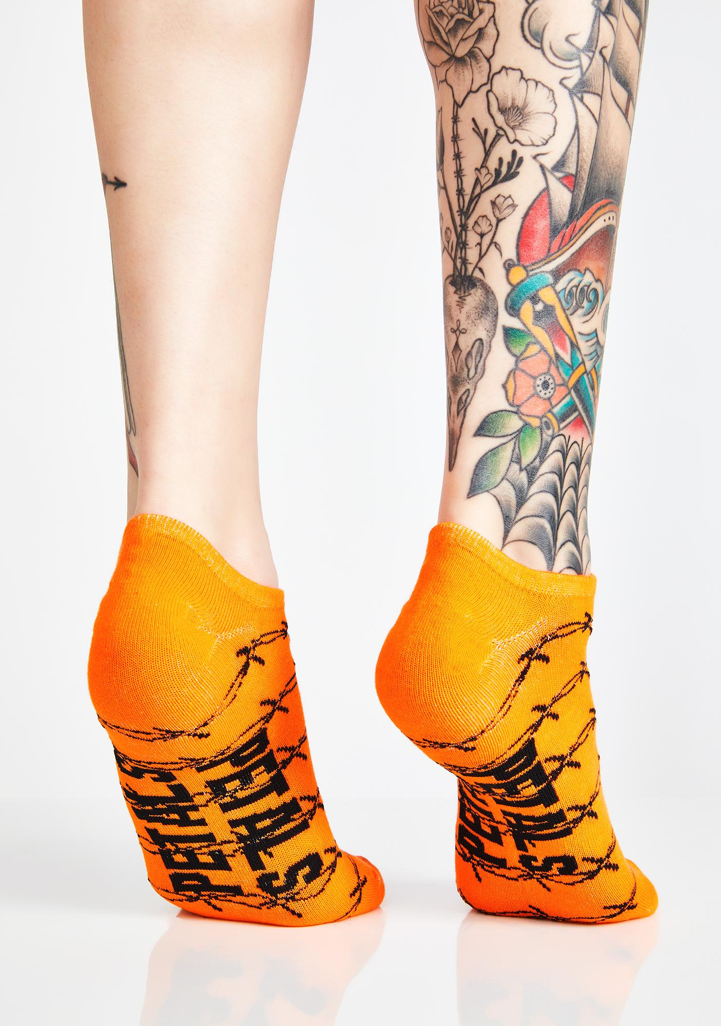 Petals and Peacocks Flames N Barb 3-Pack Socks