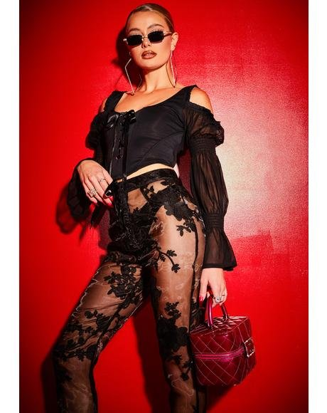 Long List Of Lovers Corset Lace Top