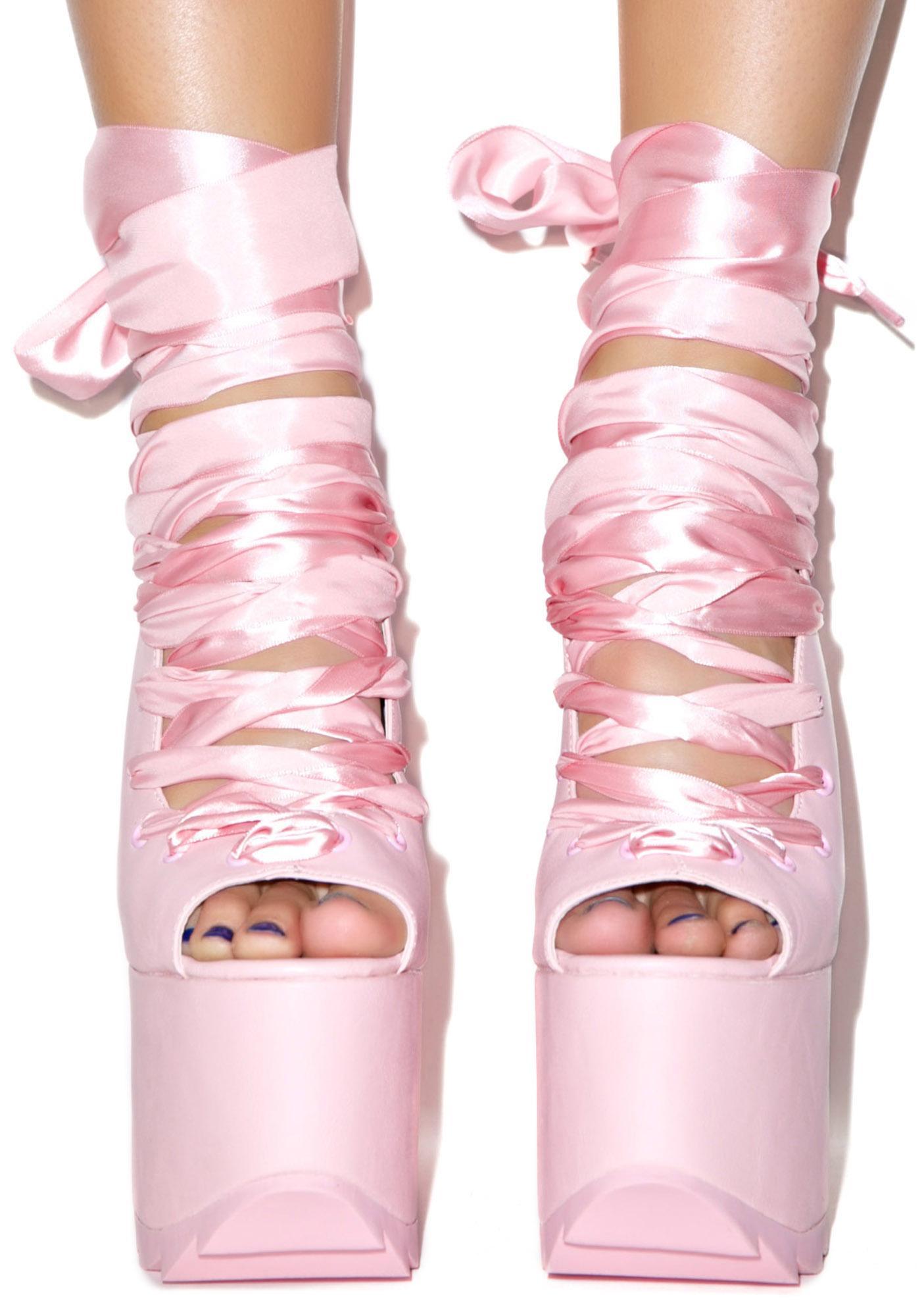 Y.R.U. Pink Ballet Bae Platforms