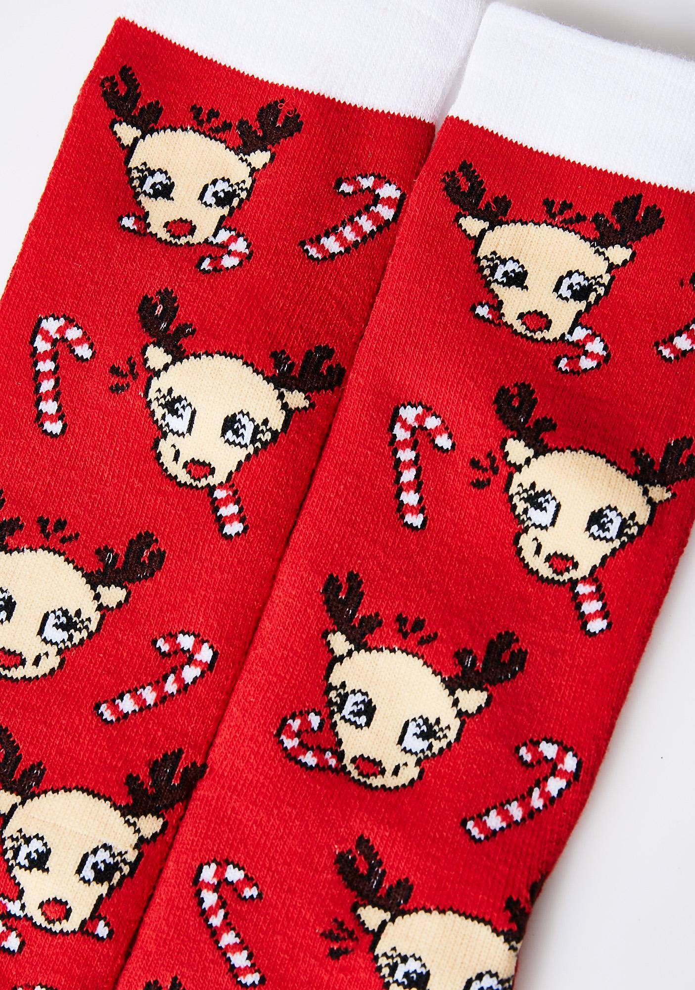 Reindeer Peppermint Scented Socks