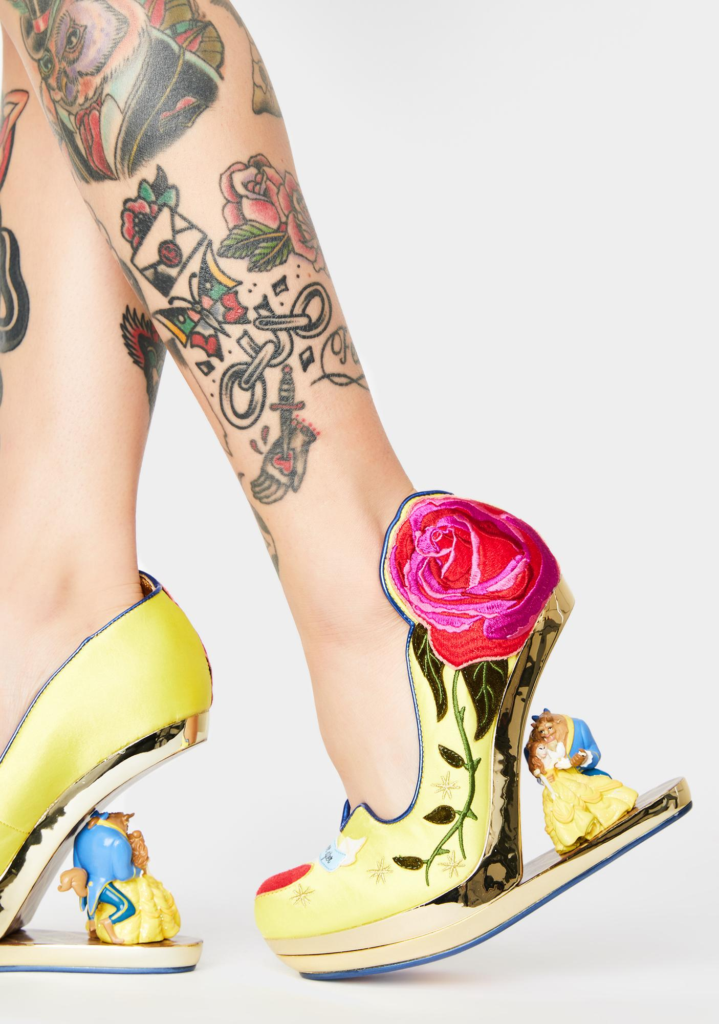 Irregular Choice Bold As A Rose Wedge Heel