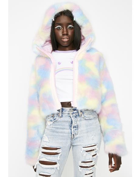 Lick The Lollipop Faux Fur Jacket