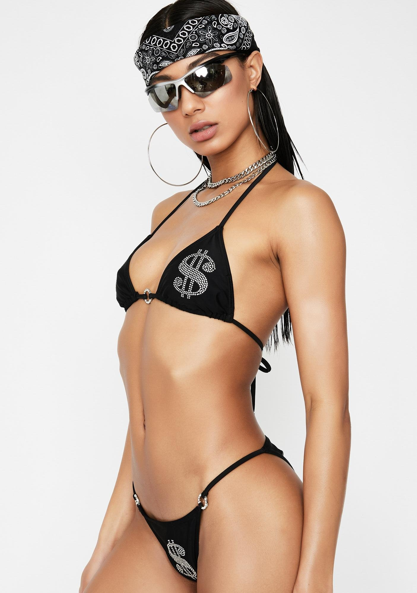Poster Grl Make It Reign Rhinestone Bikini Set