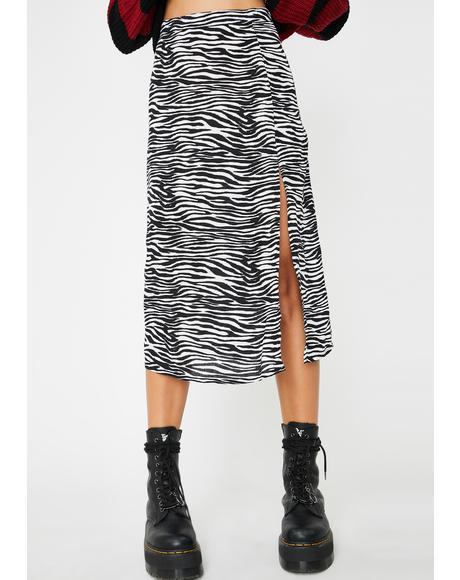 Zebra Saika Skirt