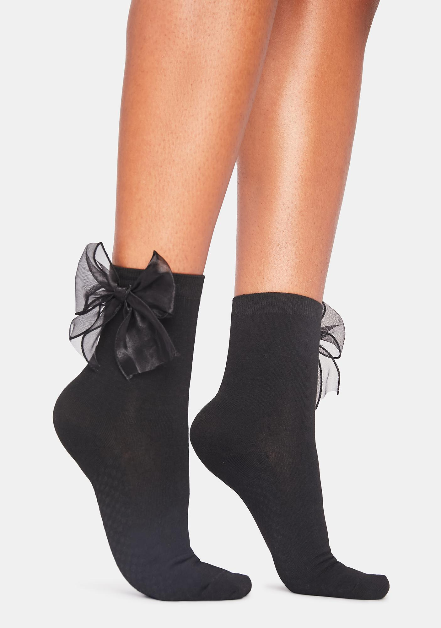 Take Some Time Bow Socks