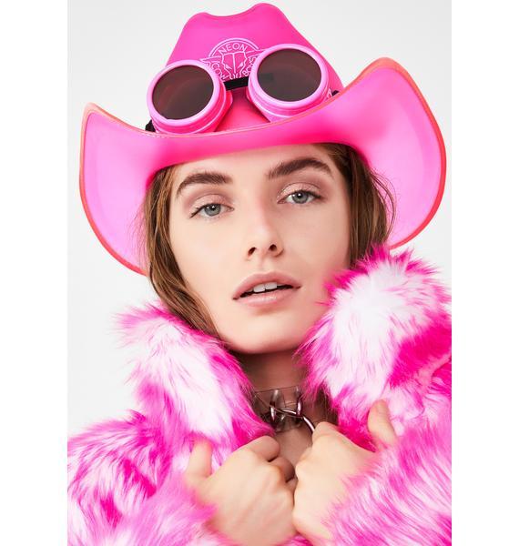 Neon Cowboys BeauPeep Pink Light Up Cowboy Hat
