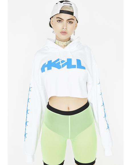 Hell Crop Hoodie