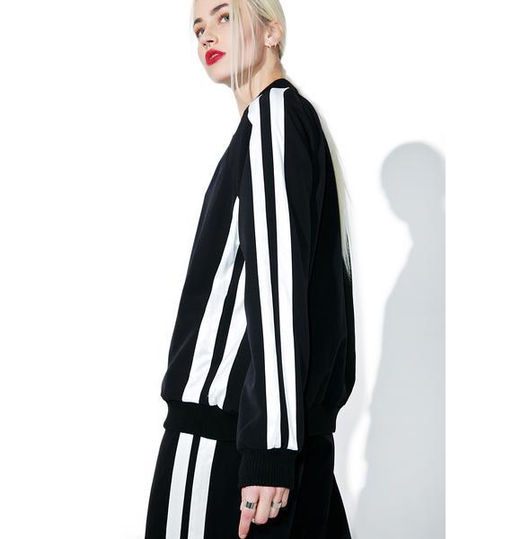 Kendall + Kylie Track-Stripe Bomber Jacket