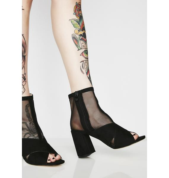 Public Desire Uganda Mesh Sock Fit Ankle Boots