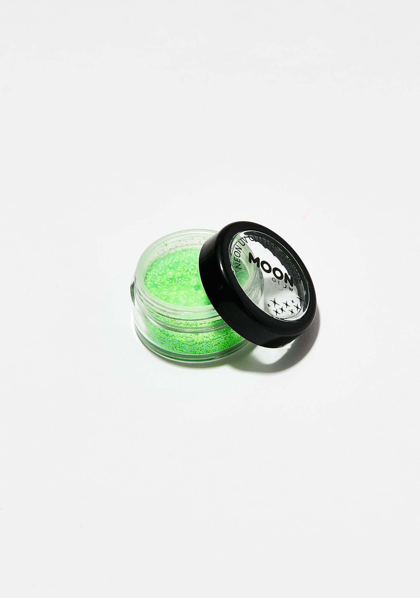 Moon Creations Neon Green UV Glitter Shaker