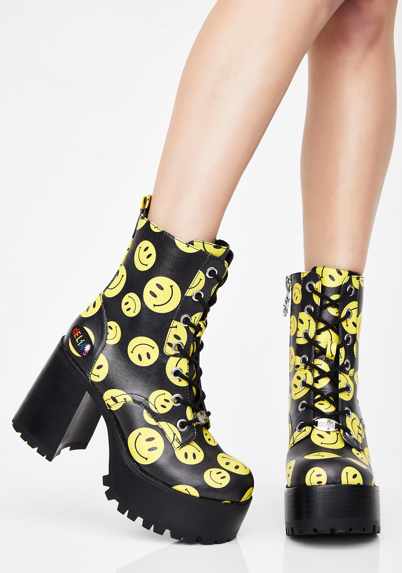 dELiA*s by Dolls Kill Joyful Noise Platform Boots